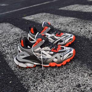 Pista 2 Trainer zapatilla de deporte de lujo del papá zapatos hombres mujeres 2020 nueva versión zapatilla de deporte de la luz Triple s diseñador retro de los zapatos ocasionales LED