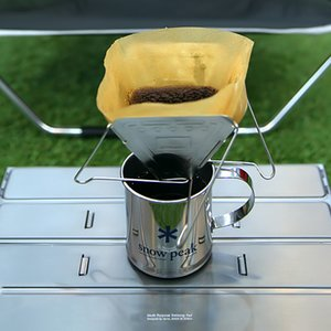Campeggio esterno portatile filtro macinato caffè in acciaio inox Fold caffè antigoccia rack antiusura resistente al calore vendita calda 23gt I1