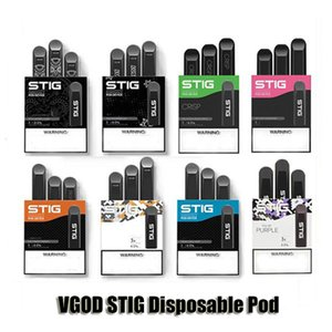 100% Original VGOD STIG descartável Dispositivo Pod Starter Kit 270mAh Battery 1,2 ml Cartucho Vape Pen 8 cores autênticas