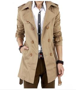 Trenchcoat Klassisch Zweireihig Herren Langer Mantel Herren Designer Wintermäntel Lange Jacken Mäntel Britischer Stil Mantel
