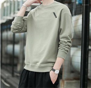Long Sleeve Crew Neck Mens Thin Loose Tops Solid Color Males Casual Tshirts Mens Designer Tshirts