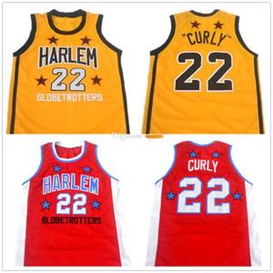 """1979-1985 Fred cucita su misura """"Curly"""" Neal # 22 Harlem Globetrotters retrò da uomo di pallacanestro Jersey Qualsiasi Numero Nome maglie"""