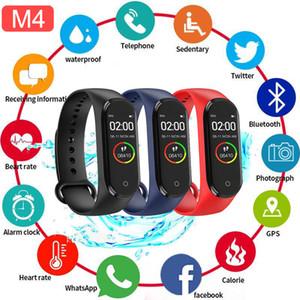 Pressione intelligente Banda fitness Trcker M4 Sport Bracciale contapassi frequenza cardiaca Sangue Bluetooth Wirstband impermeabile Smartband