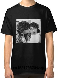 Homens camiseta Finn Wolfhard Jack Grazer Preto Tees Roupas Impresso Tee t-shirt das mulheres