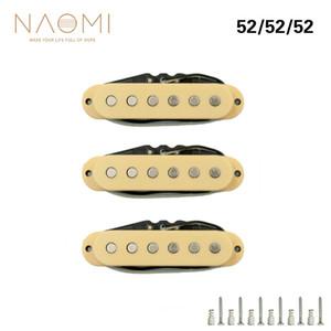 NAOMI Pickup de Guitarra 3 UNIDS / Set Single-coil Guitar Neck Pickup Guitarra Eléctrica Pickup Neck / Middle / Bridge 52mm