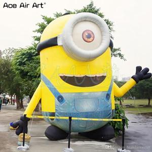 Meilleures ventes de publicité et de spectacle dessin animé mascotte Minion gonflable, debout minions seul œil, petit homme jaune pour la décoration de fête