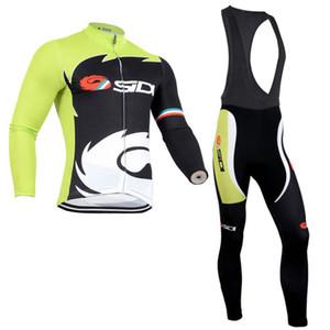 Rapha equipa Ciclismo de Mangas compridas jersey (bib) Calças Define Primavera e outono Ciclismo Respirável Homens Ciclismo Vestuário zesky