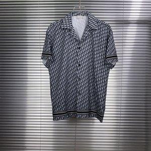 T-shirt splicing uomini e donne di stampa manica corta all'inizio della primavera nuovo tessuto di cotone doppio filo sottile stampa digitale processo ES9