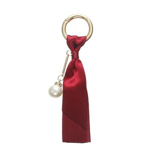 Sac de main de mode femmes Bijoux voiture Pendentif Porte-clés Perles coréenne Ruban détachable bricolage Accessoires soie Porte-cadeau