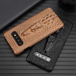 3D Timsah Geri Samsung S10E Lüks inek derisi Timsah Cilt Kapak için Samsung Galaxy S10 Capa İçin Desen PU Deri Telefon Kılıfı