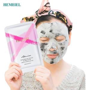 HEMEIEL Detox Oxygen Bubble Sheet Mask Cosmético Coreano Hidratante Bambú Carbón Negro Mascarilla Facial Cuidado de la Piel