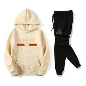 GUCCI رجل رياضية بذلات عرق جودة عالية البدلة الرياضية عداء ببطء الستر هوديي + سروال مصمم ربيع الخريف المرأة رياضية