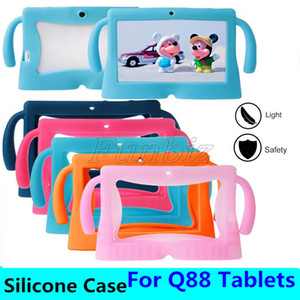 "Soft Silicone Tablet Case Shockproof Protector Cartoon Border Style 7"" Anti-Dust Cover for Android Q88 Tablet PC"