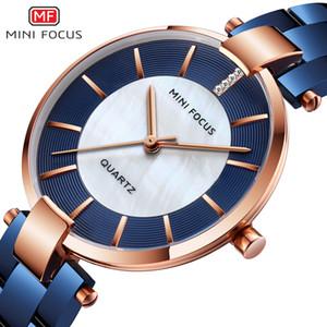 MINIFOCUS Azul Rosa Reloj de Oro Relojes de Las Mujeres Casual Señoras Vestido de Moda de Cuarzo Reloj Niñas Montre Femme Cloc