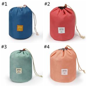 Barrel Maquiagem Shaped Saco Grande Capacidade Organizador Viagem Cosmetic Bag Cadeia Protable Mulheres Acessórios de armazenamento HHA853