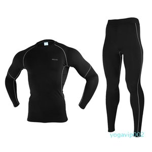 Quick Dry Thermal Running Set Jogging Clothes Workout Men Long Johns Winter Warm Up
