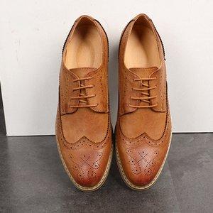 Новый BROGUE Мужчины дышащая кожа партии Деловое платье обувь острым носом Oxfords Свадебная обувь hjk89