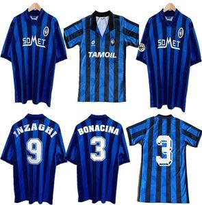 1991 92 96 97 Atalanta Retro Soccer jersey CANIGGIA STROMBERG PAULINO camisetas de futbol soccer uniform thailand quality football shirts