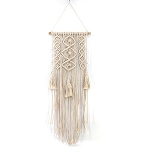Macrame Wall Art Handmade Cotton Wall Hanging Tapestry With Lace Fabrics Bohemian Hanging Best