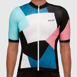 2019 Summer MAAP Team hombres manga corta ciclismo Jersey mtb bicicleta camisa transpirable de secado rápido carretera tops bicicleta ropa deportiva al aire libre Y030502