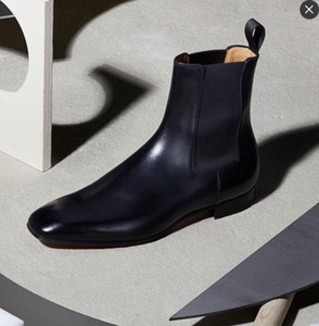 Mükemmel Lüks Roadie Bilek Boot Erkekler Kırmızı Alt Süet Deri Retro Çizme Süper Kalite EU38-47 Man With Patik Parti Elbise Walking Soğuk