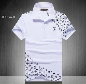 Sommer 18SS Designer-Tag Schlange druckt Kleidung Männer Stoff Brief Polo g T-Shirt Kragen beiläufige Frauen T-Shirt T-Shirt 816 Tops
