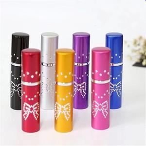 7colors 5ml Parfüm Kelebek Matkap Noktası Alüminyum Boru Paketleme Seyahat Parfüm Boş Şişe Uçucu Yağlar difüzörler Fragrance RRA2918