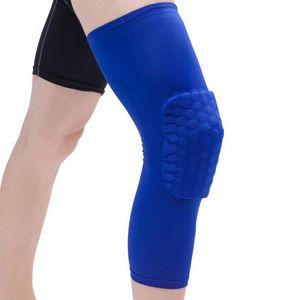 Tapes Honeycomb Segurança Sports Vôlei Basketball Knee Pad Meias de compressão do joelho pacote Wraps Proteção Brace Acessórios de Moda Individual