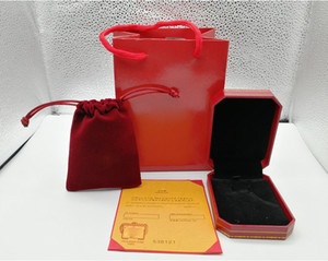 Fashion Red color bracelet necklace ring original orange box box bags jewelry gift box to choose