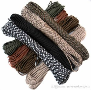 Profession 30M Outdoor Rock Climbing Rope 4mm Diameter High Strength Survival Paracord Safety Rope Carabiner Cord String Hiking Accessory
