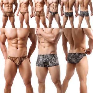 dos homens da cópia do leopardo Tarzan Breve Underwear Shorts Cuecas de alças Vest melhor qualidade