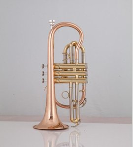 Professional Bach Bb Cornet Phosphorous copper trumpet International musical instrument with Carrying Case Gloves Free Shipping