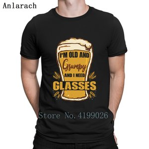 I'm Old And Grumpy And I Need Glasses Beer Glasses T Shirt Fitness Stylish Short Sleeve Streetwear Tee Tops Summer 2019 Designs