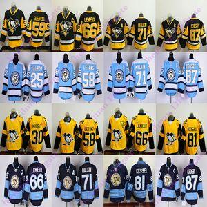 Pittsburgh Penguins RBK pullover 87 Sidney Crosby 71 Evgeni Malkin 58 Kris Letang 59 Jake Guentzel 66 Lemieux 81 Phil Kessel hockey jersey