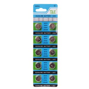 Button Cell Batteries 2020 New 10PCS Alkaline Battery AG13 1.5V LR44 386 Button Coin Cell Watch Toys Batteries Control Remote SR43