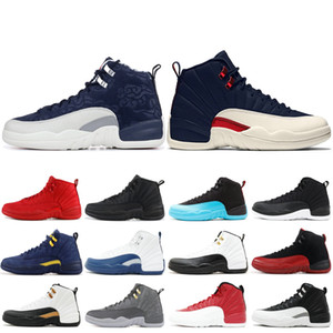 Top 12 XII Homens tênis de basquete New Wntr PRM OVO o mestre Bordeaux gripe Jogo de táxi 12s Homens estilista Sapatilhas Sapatos de couro de 7-13