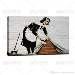 A A Banksy Stree Art-Cleaning Lady GICLEE Art Photos Prints picture wall decor art canvas art paintings living room wall pictures