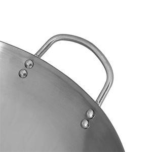 Gas Cooker Traditional Handmade Pot Huge Manual Forging Wok With Binaural 34 40cm double ear chef fry wok Iron Non coating Woks
