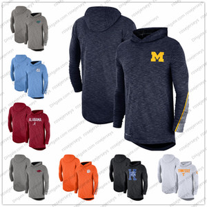 NCAA masculin Michigan Wolverines 2019 Sideline manches longues à capuche Performance Top Heather Gris Bleu marine Taille S-3XL