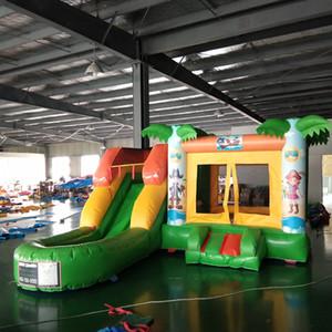 Gioco Gonfiabile Dell'acqua Outdoor Kids Entertainment Trampolino Rimbalzo Combo giochi parco divertimenti