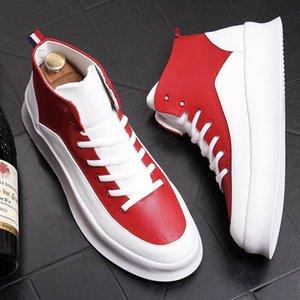 Yeni Geliş Bahar Erkek Karışık Renkli Günlük Ayakkabılar Moda Forward Yuvarlak Burun Nefes Düz Platformu Boş Ayakkabı 38-43 1F8M-110