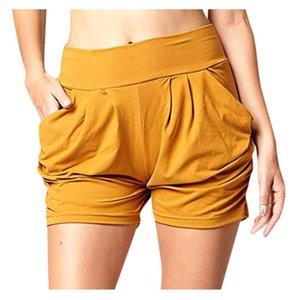 Sports Curto Mulheres Verão sólidos a granel de cintura alta Lady Verão Home Gym Casual Yoga Shorts mallas cortas mujer