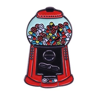 Retro Fun Gumball Machine brooch Tiny candy machine will bring a smile to everyone face!