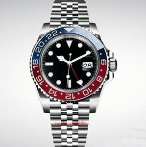 New Mens Wristwatch Blue Black Ceramic Bezel Stainless Steel Watch 116710 Automatic GMT Movement Limited Watch New Jubilee Master