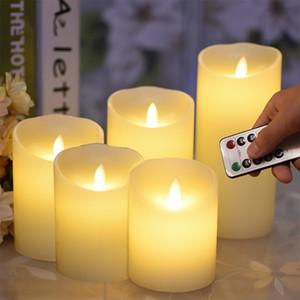 BRELONG LED моделирования свеча света батарея типа беспламенная ночь свет 5 свечи с пультом дистанционного управления 1 шт