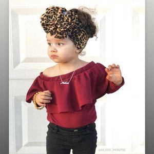 New Ins Hot vente de bébé fille élastique léopard enfants Bandeau enfants Turban Head Wraps Stretchy Bandeaux