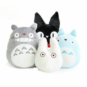 Hcdtoy Kawaii Japan Anime Cute Totoro Plush Toy Soft Stuffed Plushies Pillow Cushion Cartoon White Doll Black Cat Kids Toys