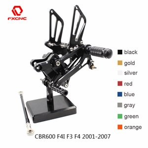 For CBR600 CBR 600 F4I F3 F4 2001-2007 02 04 CNC Aluminum Adjustable Motorcyc Rearset Set Fot Peg Pedal Footrest