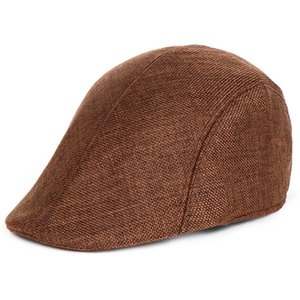 Autumn Winter Duckbill Ivy Hat Peaked Cap Breathable Cotton Blend Beret Beanie Newsboy Hat Cabbie Headwear Sports Caps