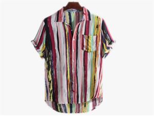 Homens Verão Designer Shirts Moda multi Imprimir manga curta assimétricas camisas, T Mens Casual Descontraído Tops